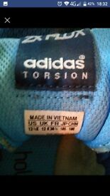 Boys blue adidas trainers size 12