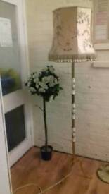 Lamp gold marble