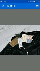 Schott NYC cafe racer leather jacket New with Tags