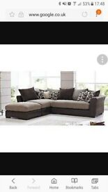 Large Madison DFS corner sofa armchair and footstool