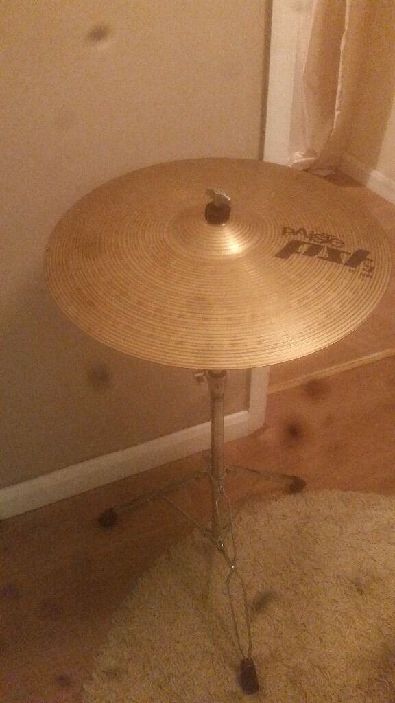 "paiste ride cymbal and standin Cambridge, CambridgeshireGumtree - Paiste pst 3 20 "" ride No cuts or splits or key holing Needs a clean but unsure of what to use on these A PDP double braced cymbal stand Sturdy and fairly heavy Will sell separately £20 for cymbal and £15 for the stand or both for £30"