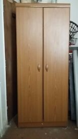 Old modern-style wood veneer wardrobe