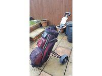 PowerBilt Bag with Golf Master Trolley