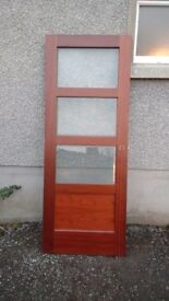 Solid mahogany glazed door