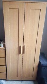 Wooden wardrobe - excellent condition