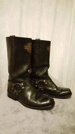 Harley Davidson Black Boots Size 8