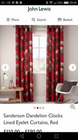 Curtains from John Lewis make Sanderson fully lined