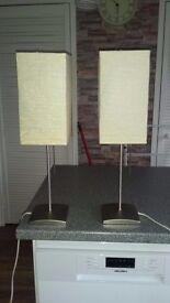 2 ikea table lamps