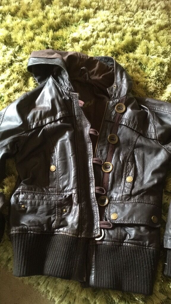 River Island dark brown Leather jacket size 12in Bourne, LincolnshireGumtree - River Island chocolate brown leather jacket, size 12. Great used condition, plenty of wear left in it. Its to small for me now, hence sale. Cash on collection please. Thank you