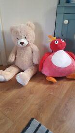 2 Extra Large Soft Toys