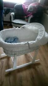 Moses basket with stand crib