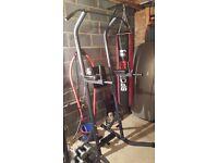 Dip station gym equipment