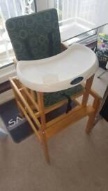 High chair wooden