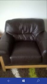 Dfs armchair so comfortable brown dark leather