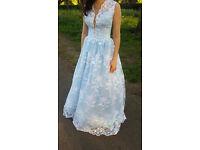 Handmade floral ball gown dress size 8