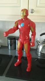 Large iron man super hero figure..