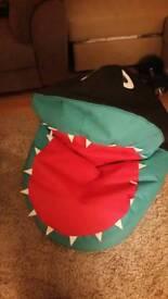 Shark bean bag