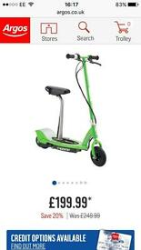 Kids Electric Green Razor Scooter