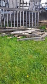 Free to uplift scrap decking and spindles