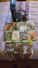 Xbox 360 console 120gb leads controller plus 11 games