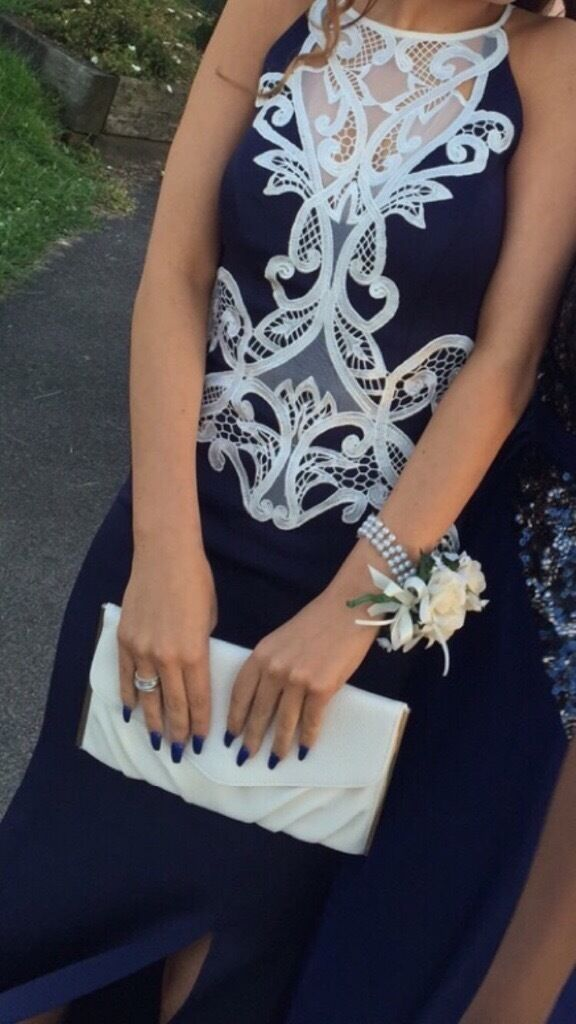 Size 6 Lipsy London,love Michelle Keegan Blue dress with white lace detailin Ipswich, SuffolkGumtree - This beautiful dress has only been worn once for my daughters prom. It is excellent condition and would suit many occasions. The dress cost £100 new so I am asking £75 due to the time worn however I may consider any sensible offers. Any questions...