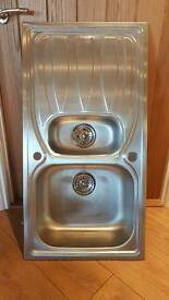 Brushed Stainless steel inset sink in good used conditio