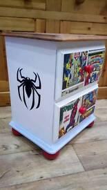 Spiderman/Superheroes Bedside Cabinet