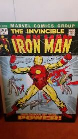 canvas picture iron man