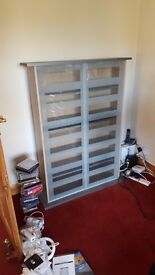 Brilliant Spacious silver and glass DVD cabinet