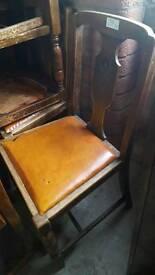 Set 4 vintage chairs for refurbishment