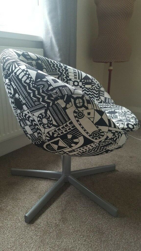 Awesome Ikea Skruvsta Swivel Bucket Chair In Sunnaryd Black White In Palmers Green London Gumtree Creativecarmelina Interior Chair Design Creativecarmelinacom