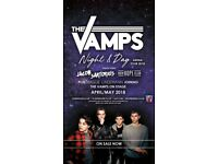 EXCELLANT SEATS x 2 for The Vamps 28th April O2 London BLK 101