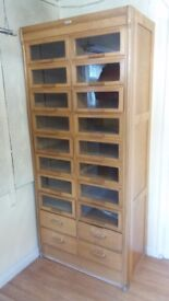 Large Antique haberdashery cabinet made by Dudley & Co., in the 1920's. Excellent condition