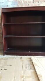 Bookcase dark wood 3 shelves good condition