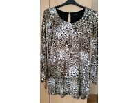 long line animal print top/tunic- Dorothy Perkins