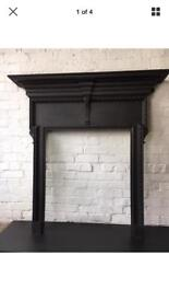 Antique cast iron fire surround/ fireplace delivery £25 max most uk