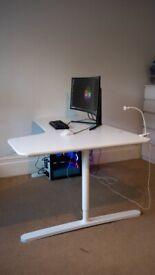 IKEA White Desk, L Shaped