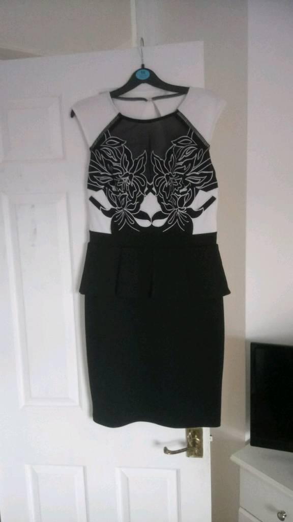 Lipsy Black and white dress size 12