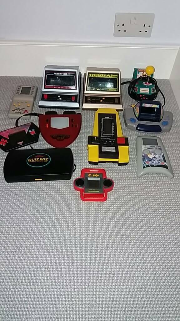 Vintage Hand Held Games Consoles Space Invaders etc...Look Rare