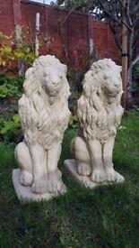 2x Authentic Regal Stone Lions