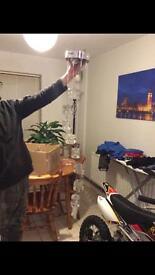 Ice cube dangling light