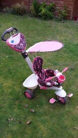 SmarTrike Toddlers Girls Push or Pedal Trike Pink