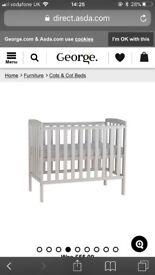 Baby COT & mattress NEARLY NEW