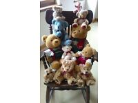 Teddies teddies teddies excellant collection and mahogany rocking chair perfect gift BARGAIN