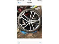 Vw golf genuine nagaro alloys. 3 wheels and tyres. Tyres almost new