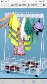 Child's mobile cloakroom £25