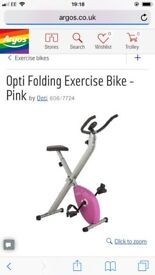 Folding Exercise bike like new