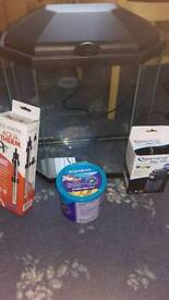 Brand New 25l fish tank with heater, filter and food for sale (unwanted gift)
