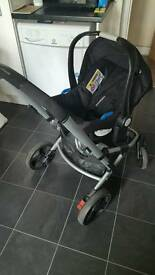 Infant carrier and pushchair