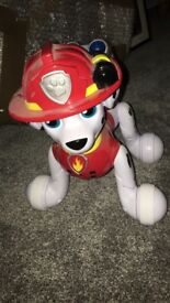 New and unused interactive Marshall paw patrol toy
